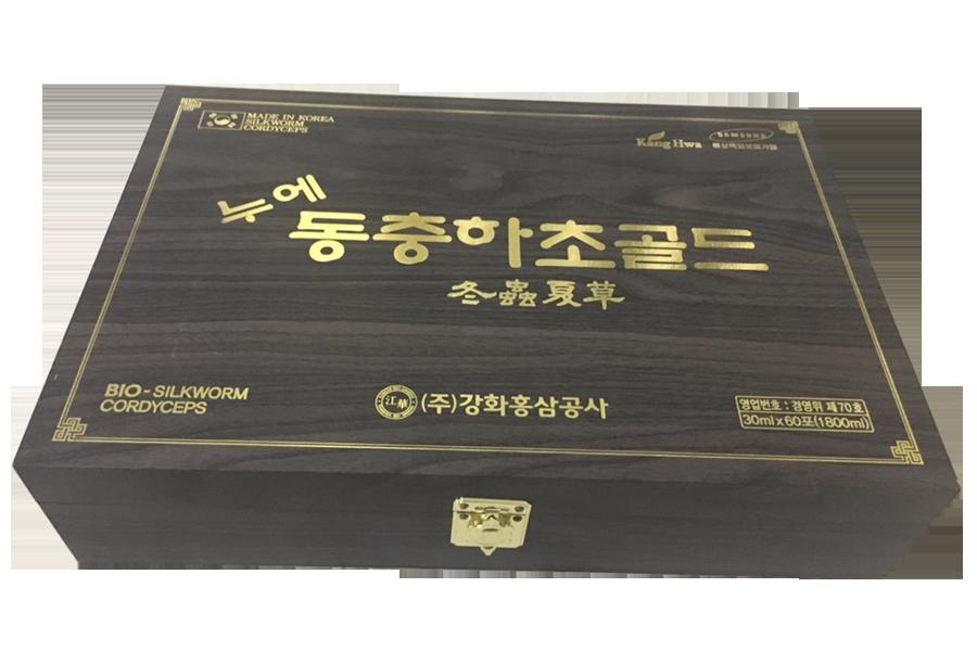 Đông Trùng Hạ Thảo Hộp Gỗ Đen Dạng Nước KangHwa 60 gói Hàn Quốc Kangnam Mart