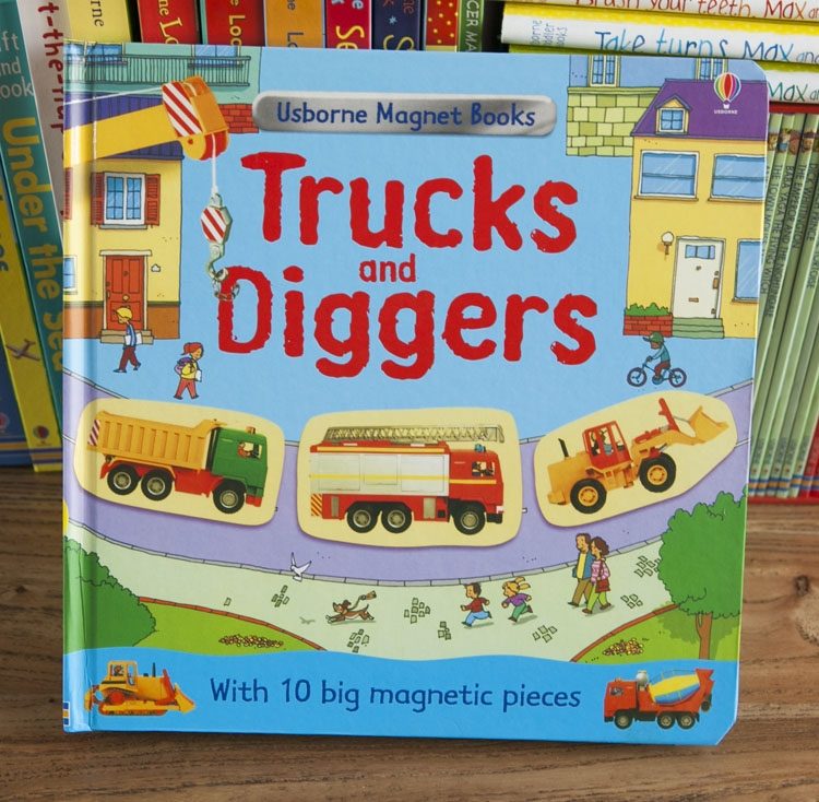 Magnet truck and digger