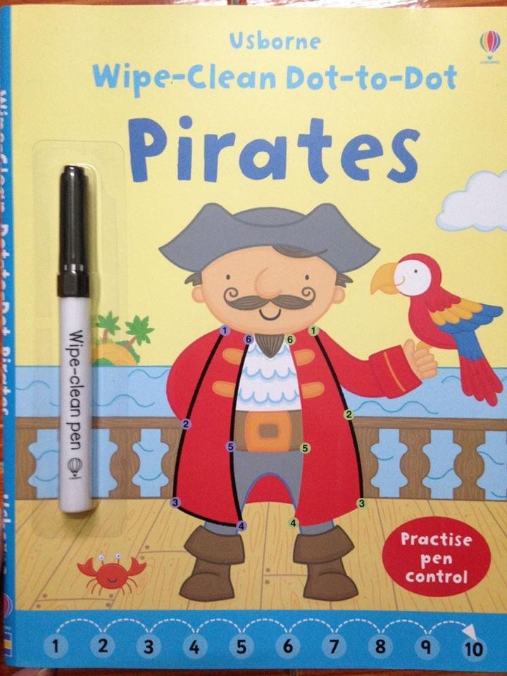 Wipe clean Dot-to-Dot Pirates