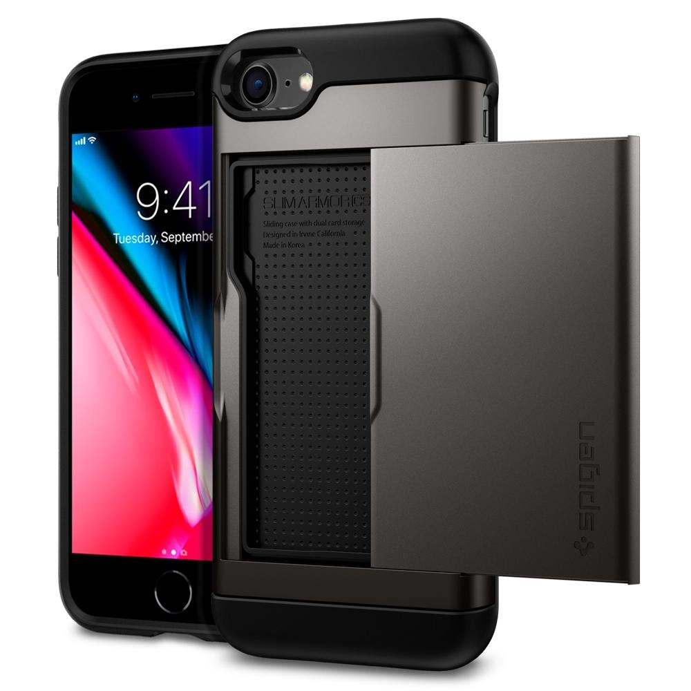 Ốp lưng SPIGEN iPhone 8 Case Slim Armor CS - Gunmetal