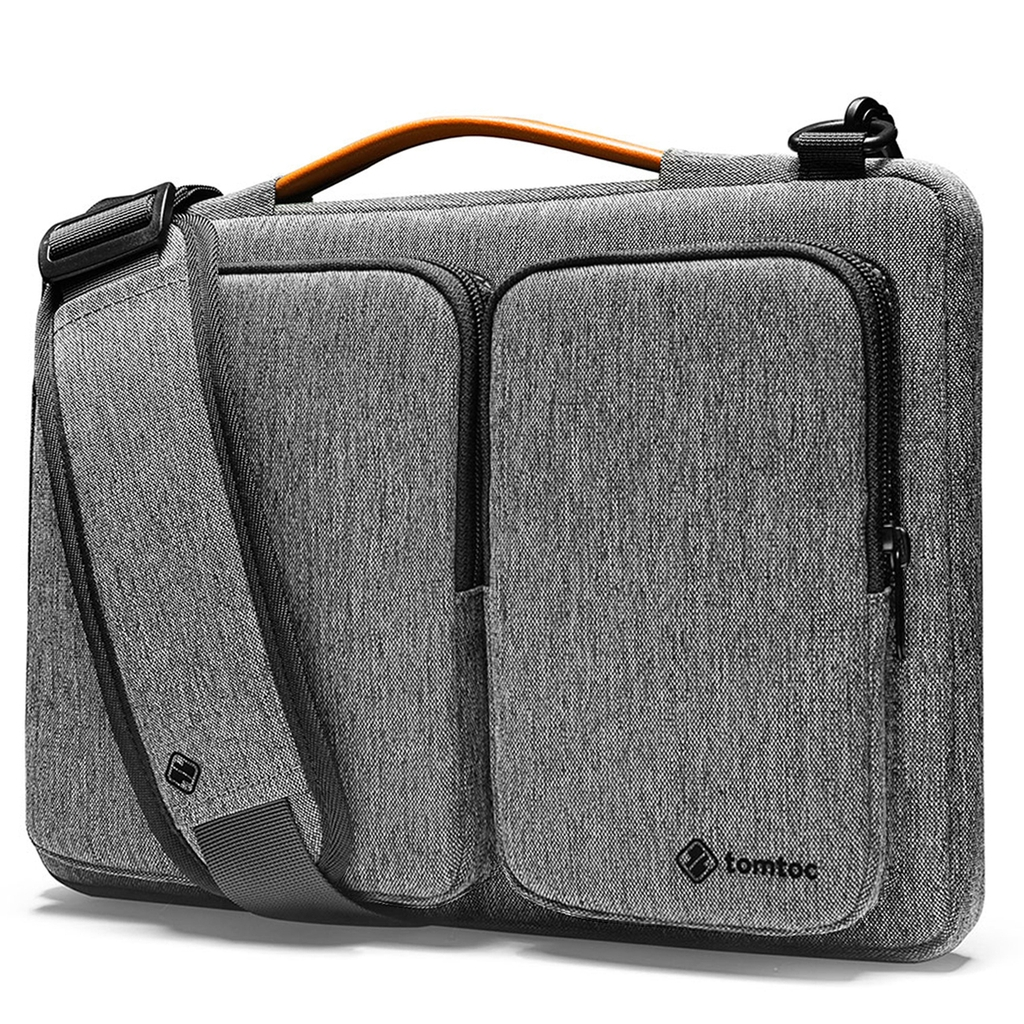Túi đeo TOMTOC (USA) 360° Shoulder bags Macbook Pro 13″/Air 13″ New Gray A42-C02