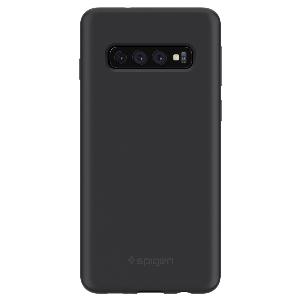 Ốp lưng SPIGEN Galaxy S10 Case Silicone Fit Black