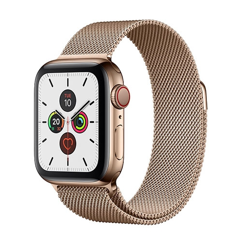 Apple Watch Series 5 Gold Stainless Steel Case with Milanese Loop (GPS+CELLULAR)