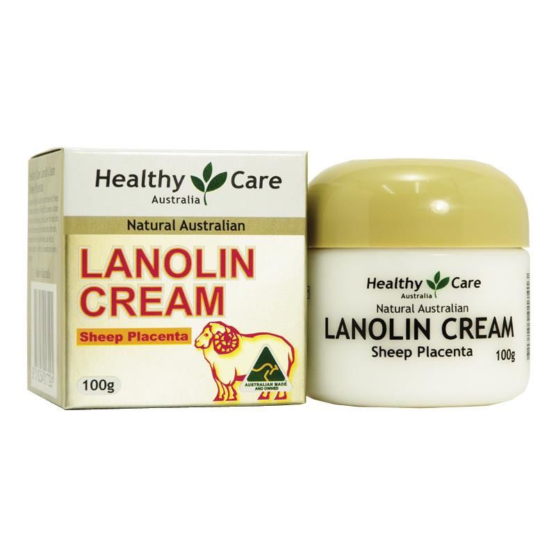 KEM DƯỠNG NHAU THAI CỪU HEALTHY CARE LANOLIN WITH SHEEP PLACENTA 100G
