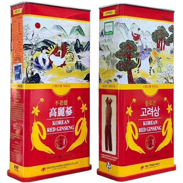 Hồng sâm củ khô 300g chính hãng Daedong Hàn Quốc 6 năm tuổi - Family Shop
