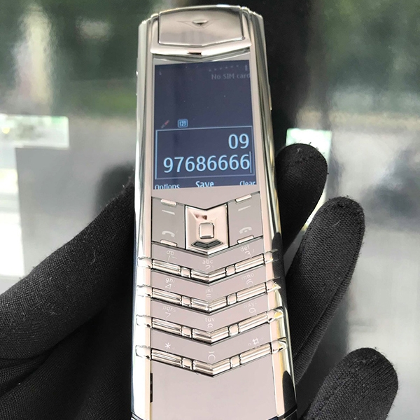 VERTU SIGNATURE S PURE SILVER BLUE ALLIGATOR