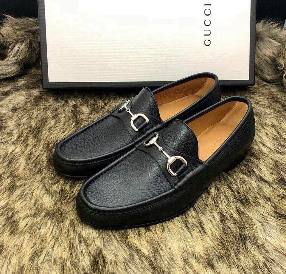 Giày Loafer Gucci sần