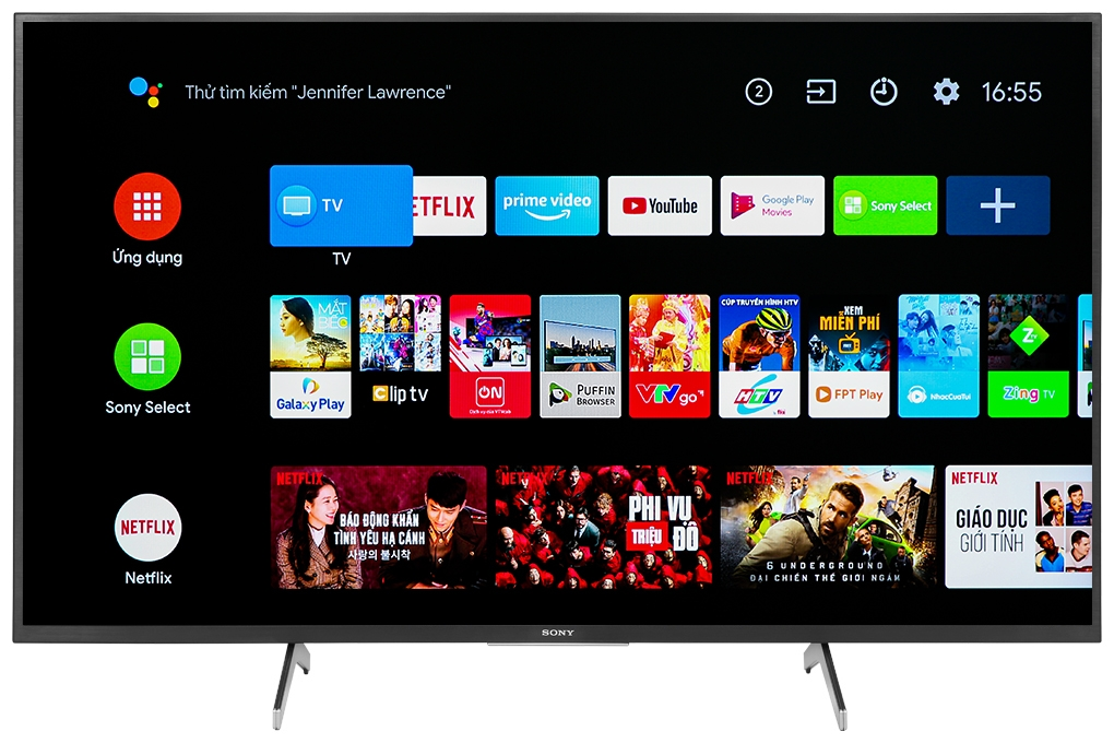 Android Tivi Sony 4K 43inch KD-43X8000H