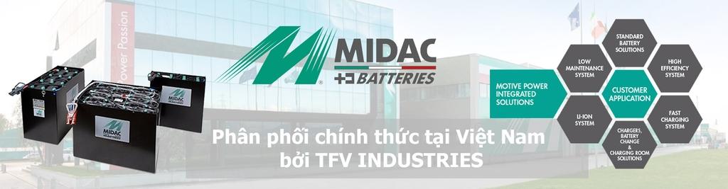 Nhà phân phối chính thức ắc quy Midac tại Việt Nam