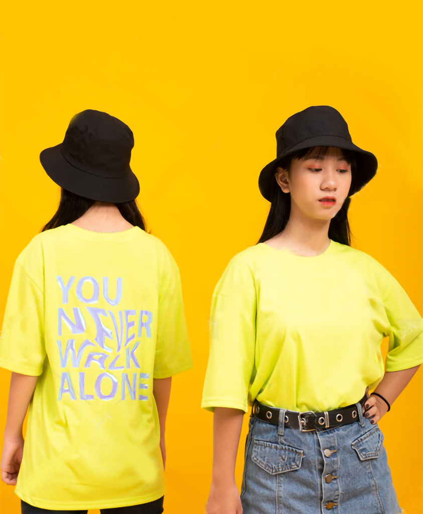 ÁO LỚP OVERSIZE YOU NEVER WALK ALONE