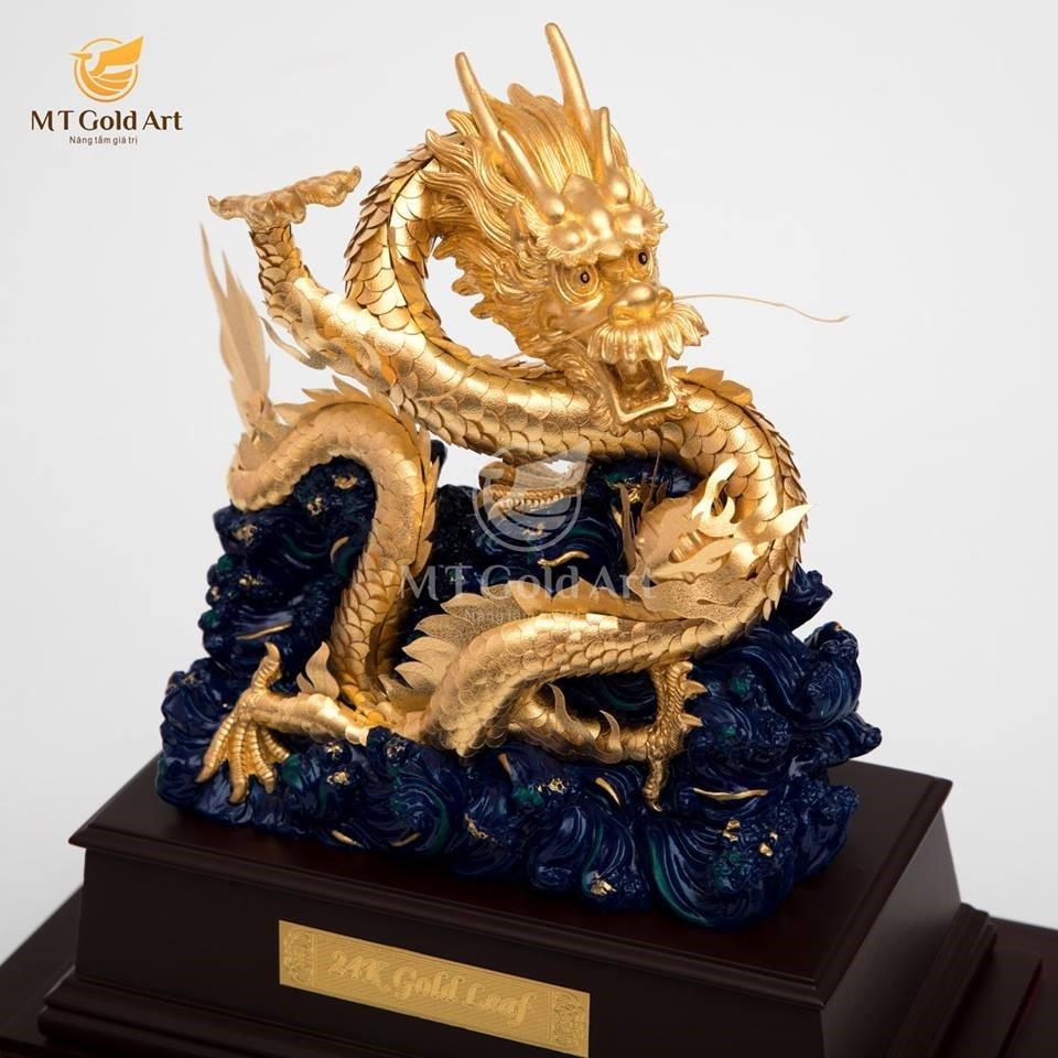 tượng rồng vàng lá 24k