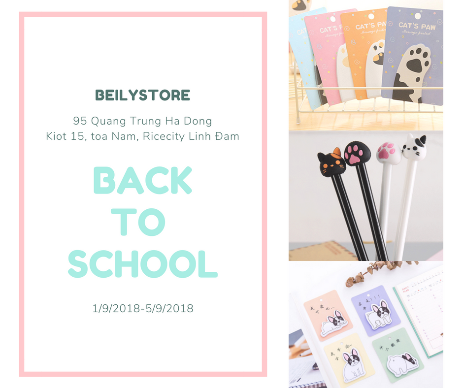BACK TO SCHOOL Cùng Beilystore.