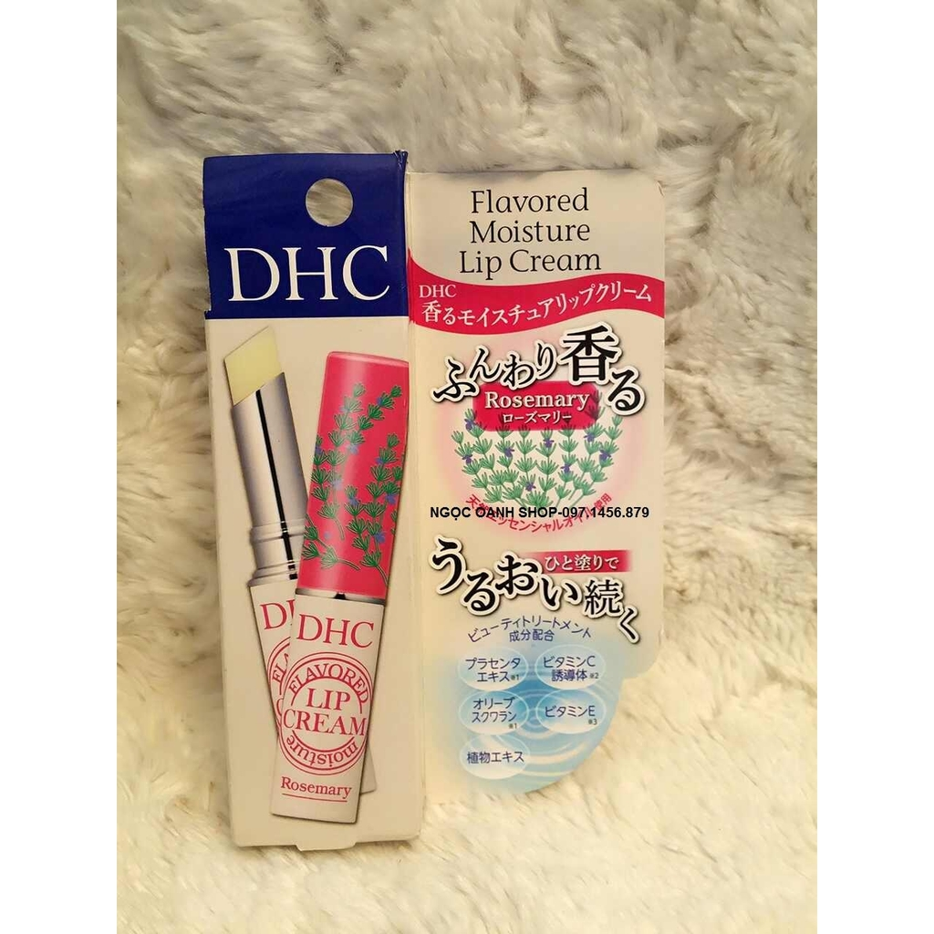 Son dưỡng DHC Flavored Moisture Lip Cream #Rosemary 1.5g