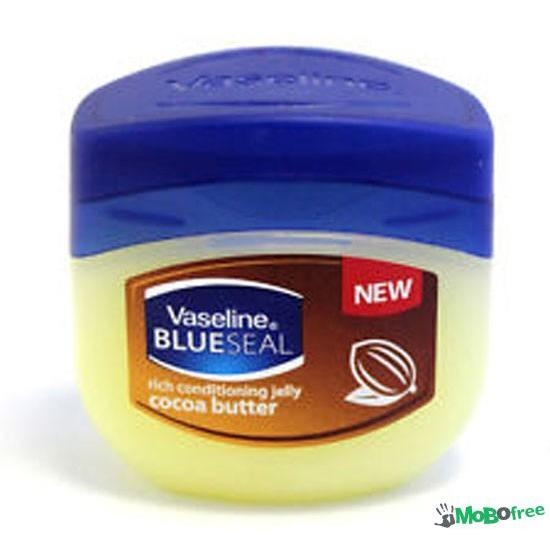 Hũ dưỡng ẩm Vaseline Blue Seal Rich Conditioning Jelly Cocoa Butter 100ml