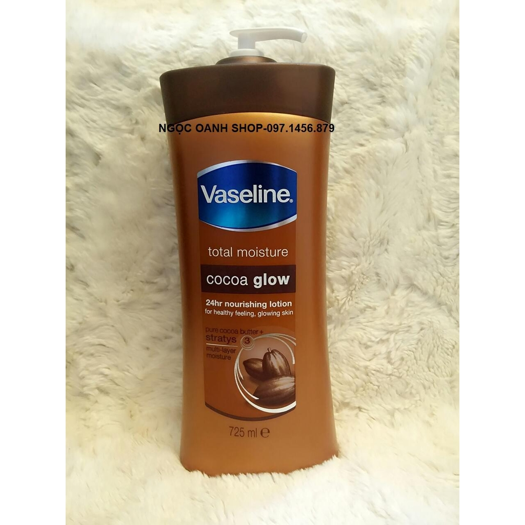 Dưỡng thể Vaseline Total Moisture Cocoa Glow 725ml