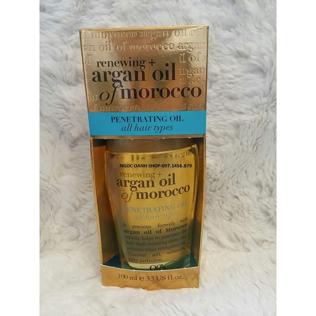 Dưỡng tóc Ogx Renewing + Argan Oil of Marocco Penetrating Oil 100ml