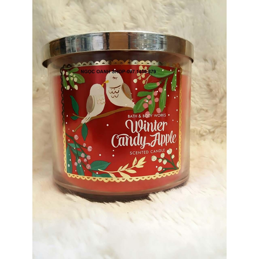 Nến thơm, khử mùi Bath & Body Works #Winter Candy Apple 411gr