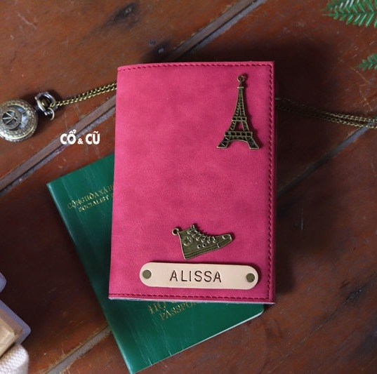 Passport holder màu hồng