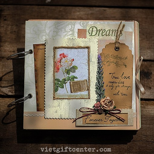 Album handmade scrapbook đẹp Together Forever