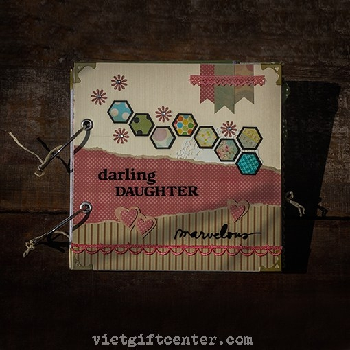 Scrapbook handmade Darling Daughter