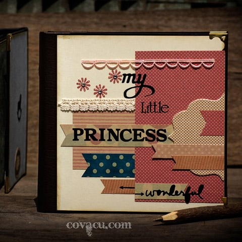 Scrapbook cao cấp My little princess