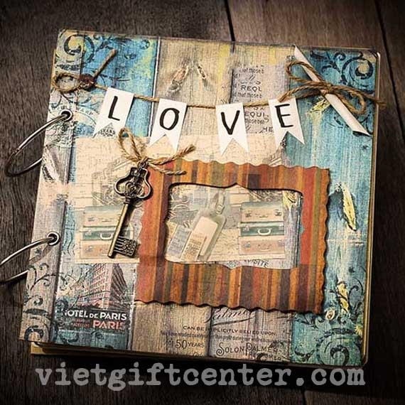 Scrapbook Love Blue