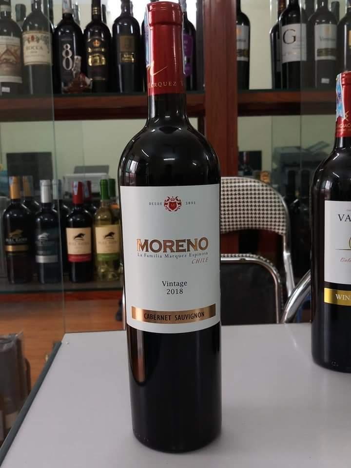 Kết quả hình ảnh cho vang chile moreno cabernet sauvignon