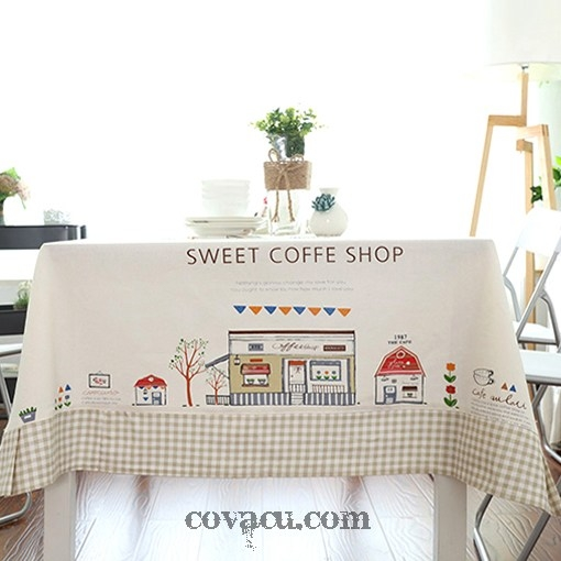 Vải may rèm Sweet Coffee Shop