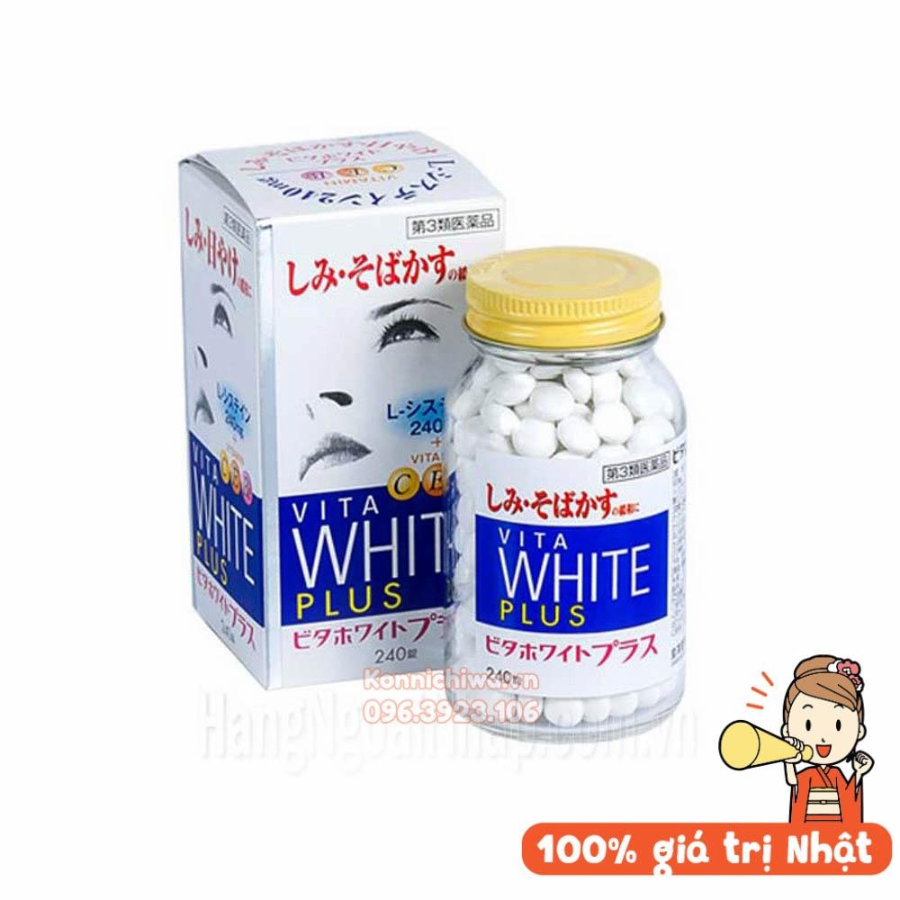 Vita White Plus 240 viên trị nám, tàn nhang và làm trắng da hàng chuẩn nội  địa Nhật - mẫu mới 2020 - giá tốt Konnichiwa Mart