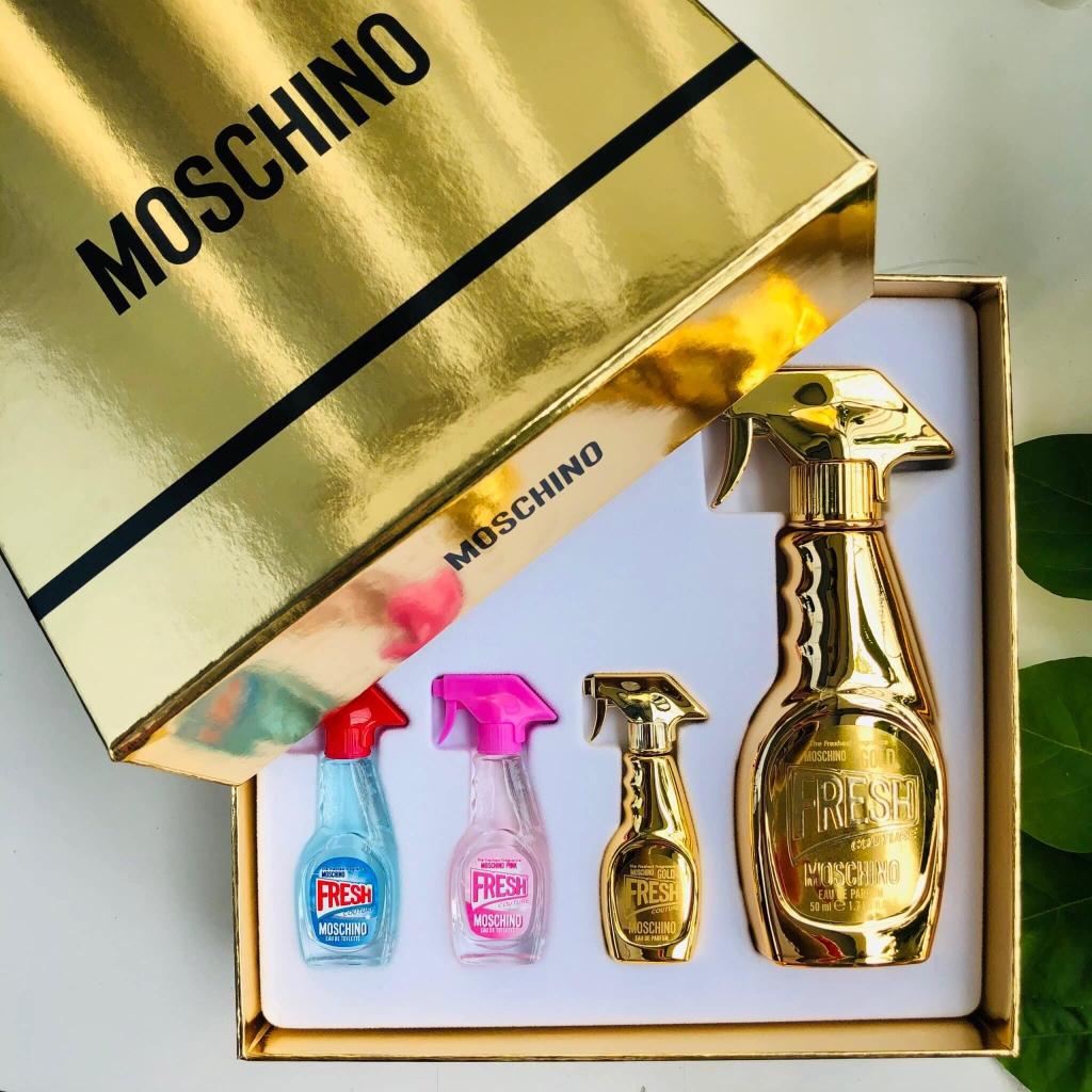 Gift Set Moschino Fresh Couture Gold 4 pcs Linh Perfume