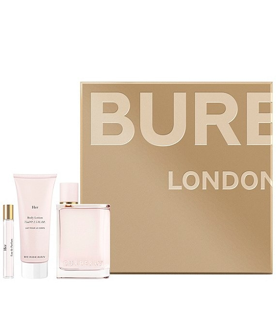 Gift Set Burberry Her 100ml+7.5ml+ Body Lotion 75ml