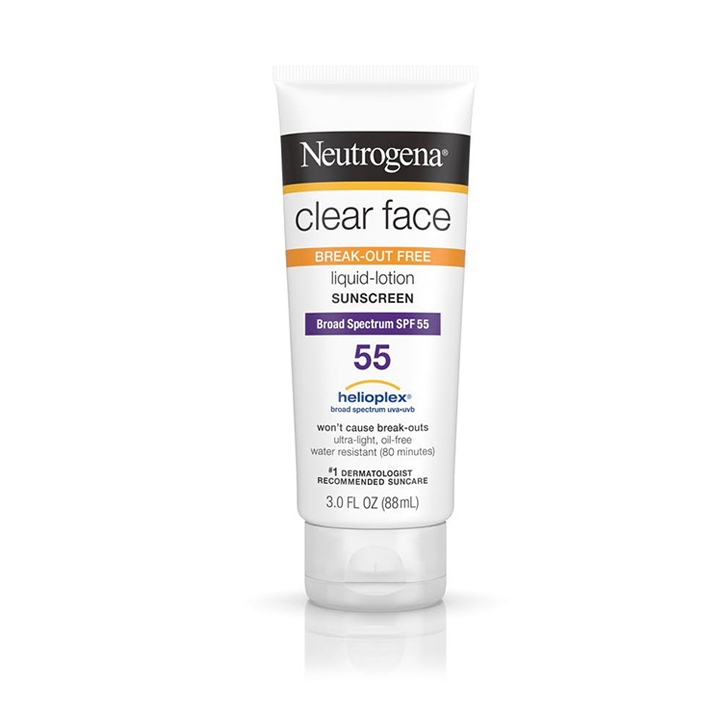 Kem Chống Nắng Neutrogena Clear Face Break Out Free Lotion Sunscreen Broad Spectrum SPF55