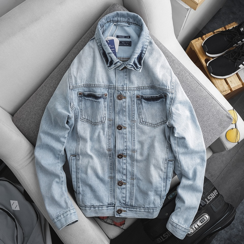 Áo khoác denim jacket Dusty Tailor Light Blue Wash
