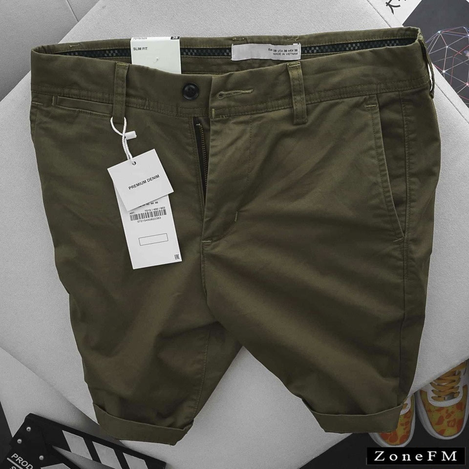 Short Khakis Z.ra Olive Color Chino