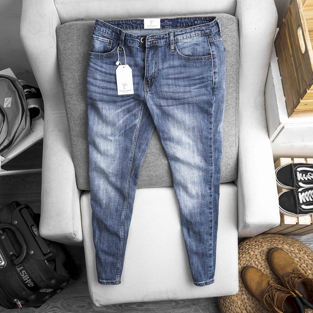 Quần jean Dusty Tailor xanh wash sáng