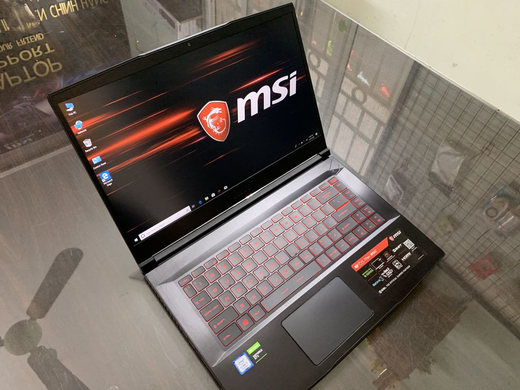"LAPTOP GAMING MSI GF63 THIN 9SC 070VN INTEL CORE I7 9750H 8GB 256GB 15.6"" IPS GEFORCE GTX1650  BACKLIGHT KEYBOARD WIN 10"