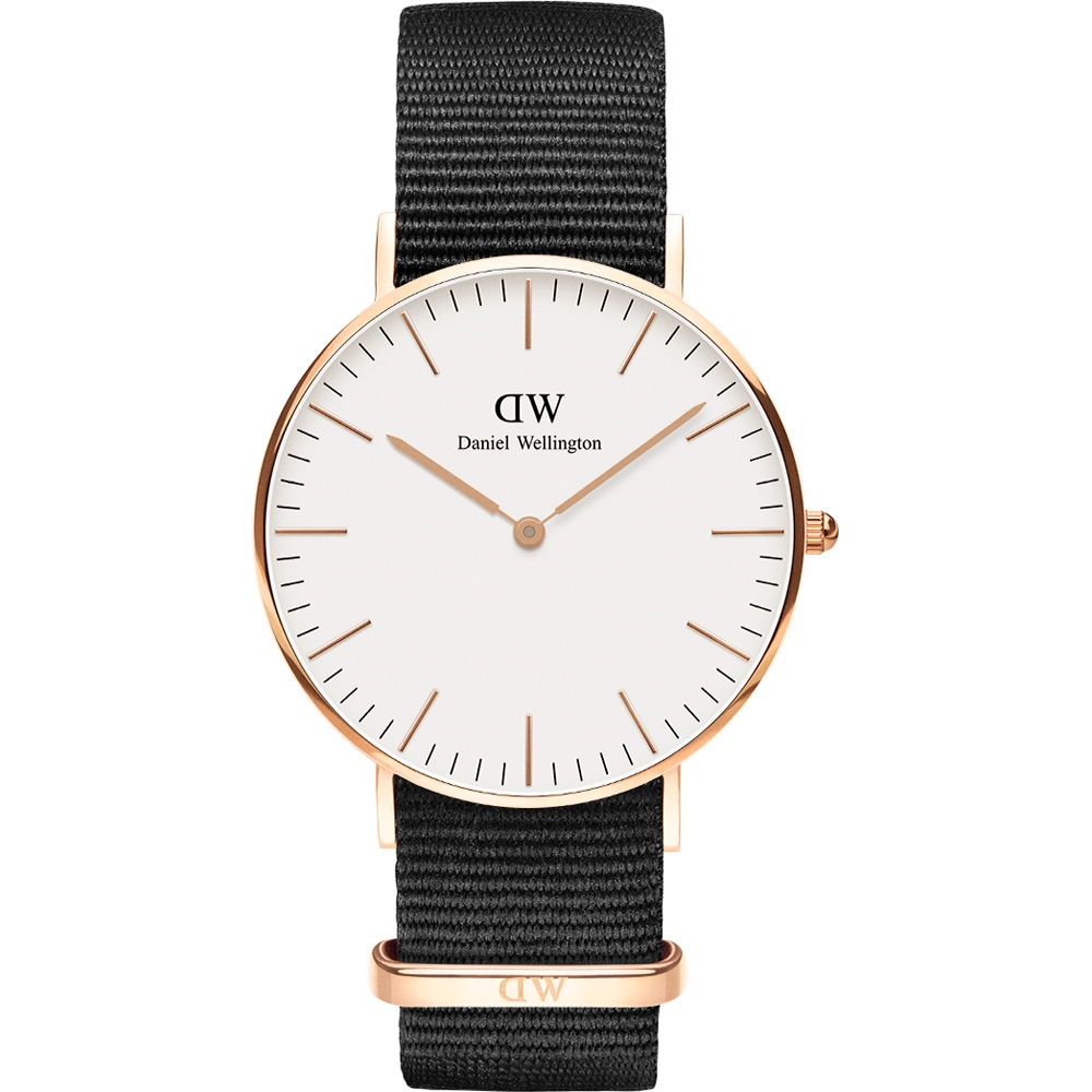 DANIEL WELLINGTON CLASSIC WHITE CORNWALL DW00100259 ROSE GOLD 36MM