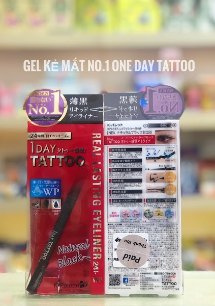 gel kẻ mắt 1 day tattoo k-palette