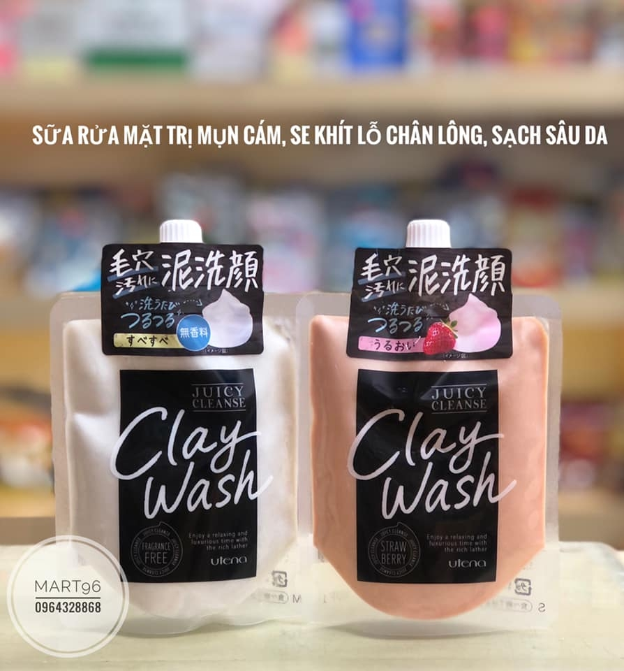 rửa mặt đất sét Utena juicy cleanse Clay Wash 110g