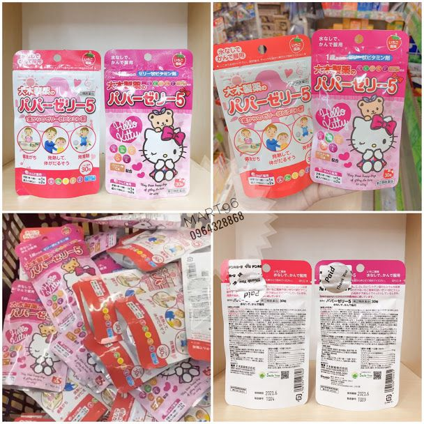keo vitamin tong hop hello kitty 30 vien