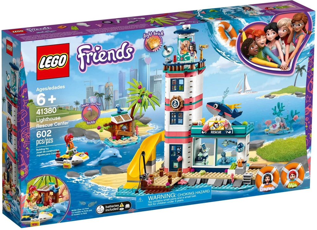 Đồ chơi LEGO Friends 41380 - Ngọn Hải Đăng Heartlake (LEGO 41380 Lighthouse Rescue Center)