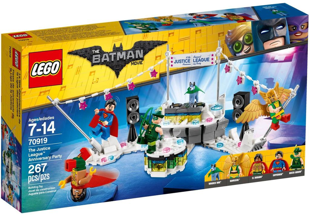 Đồ chơi lắp ráp LEGO The Batman Movie 70919 - Anh Hùng Hội Tụ (LEGO The Batman Movie 70919 The Justice League Anniversary Party)