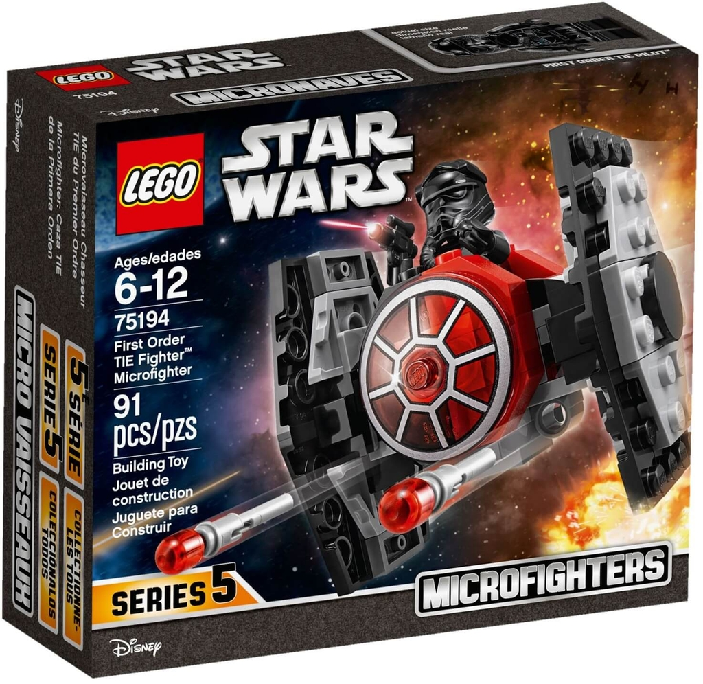 LEGO Star Wars 75194 - Phi Thuyền TIE Fighter First Order (LEGO Star Wars 75194 First Order TIE Fighter Microfighter)