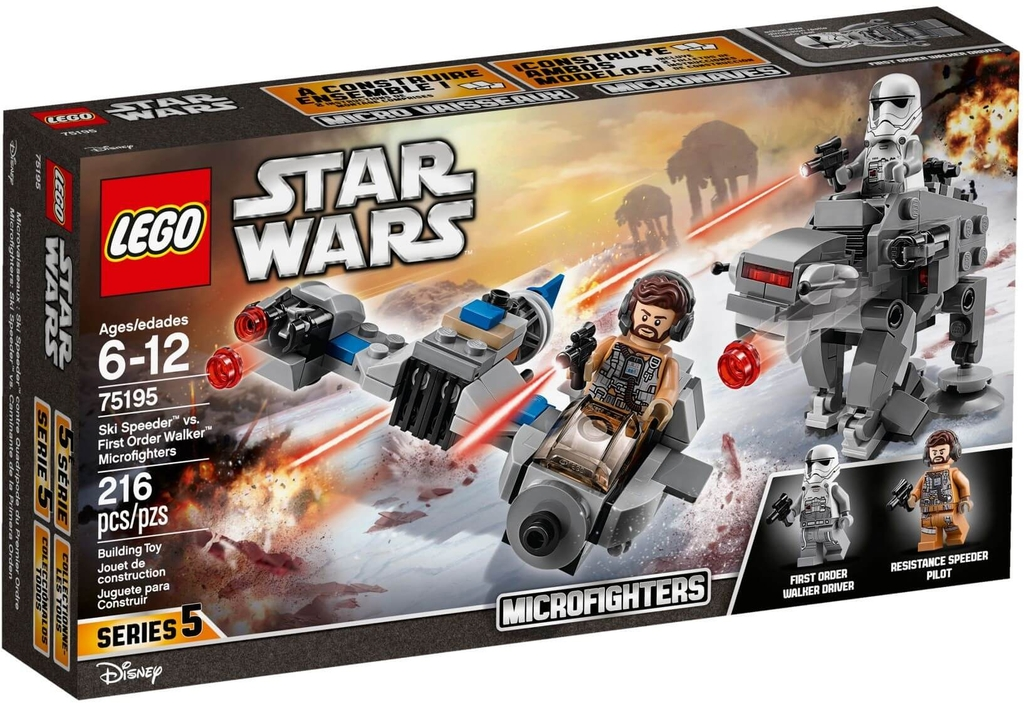 Đồ chơi lắp ráp LEGO Star Wars 75195 - Ski Speeder vs. First Order Walker (LEGO 75195 Ski Speeder vs. First Order Walker Microfighters)