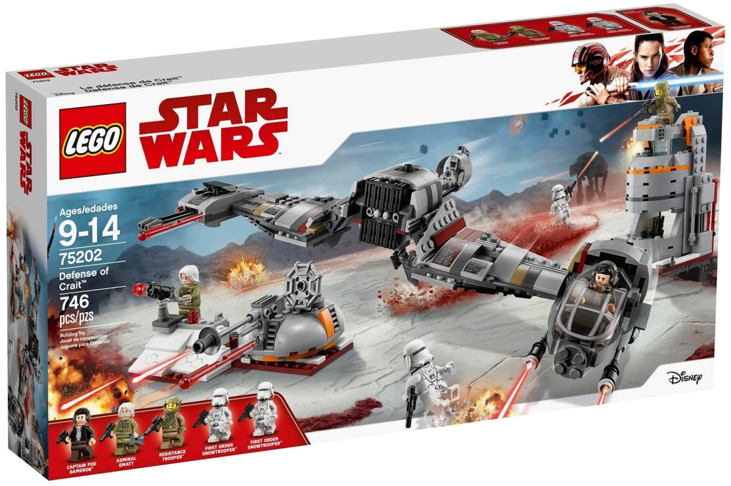 LEGO Star Wars 75202 - Bảo Vệ Hành Tinh Crait (LEGO Star Wars 75202 Defense of Crait)