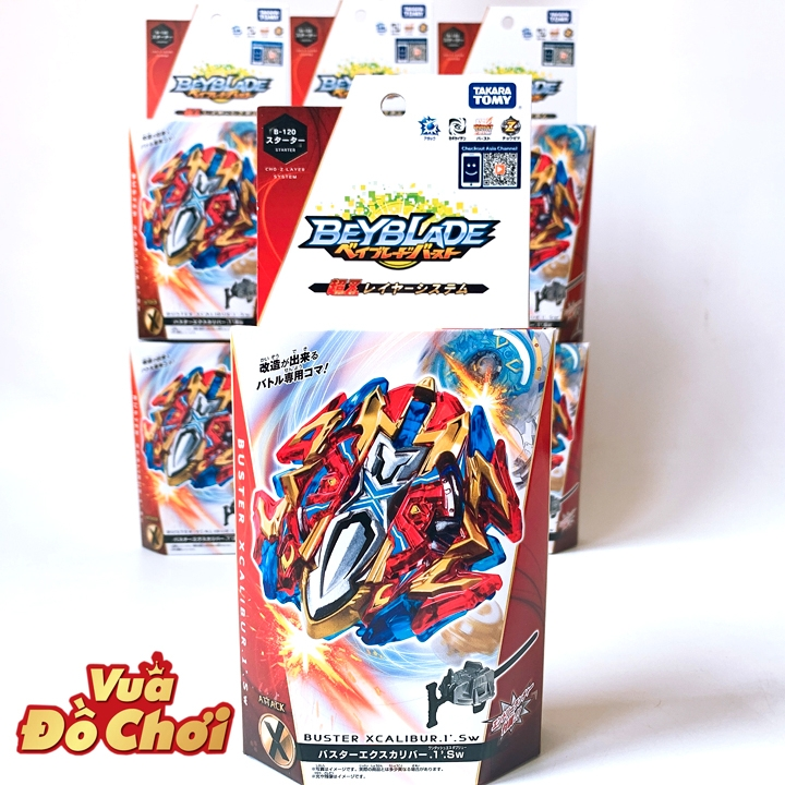 Con Quay Beyblade -B-120 Buster Xcalibur 1 Sw
