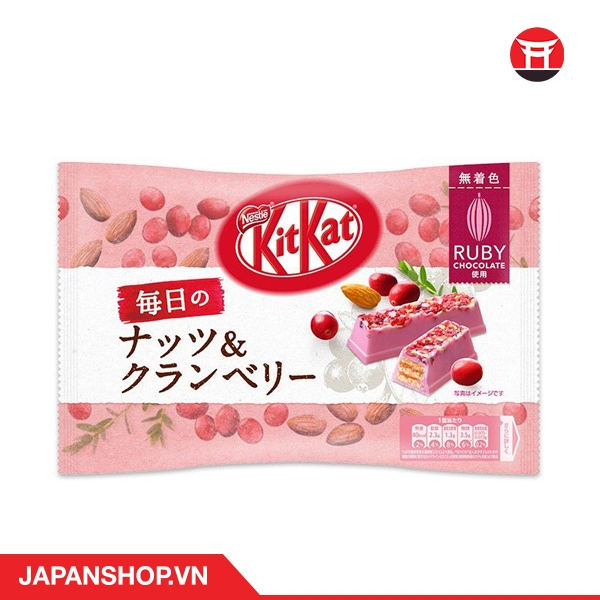 Kitkat Mainichi-Nuts and Cranberry Ruby Chocolate 87g