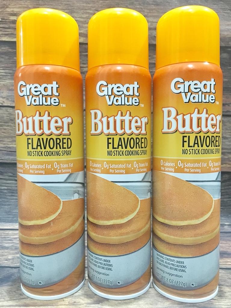 Kết quả hình ảnh cho Dầu ăn kiêng vị bơ Great Value 8 oz