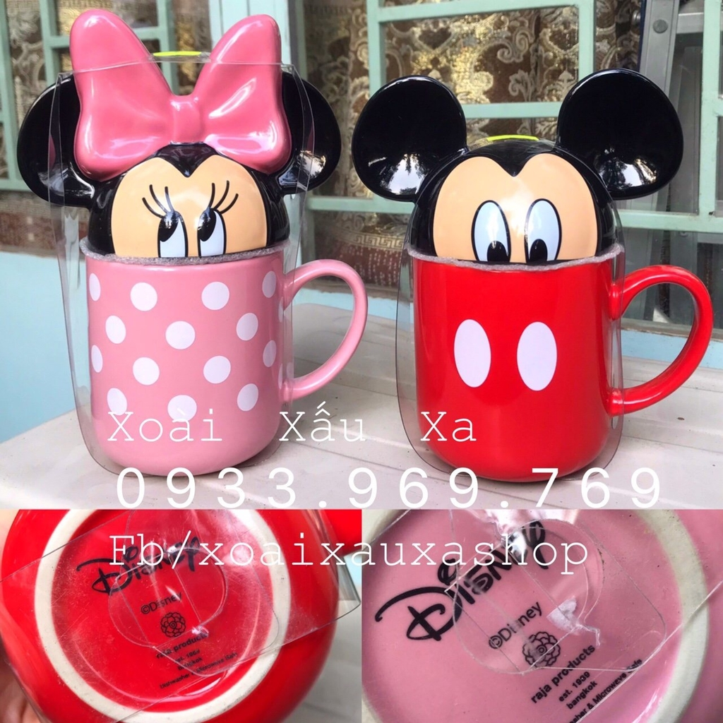 LY SỨ MICKEY- MINNIE MOUSE STORE DISNEY