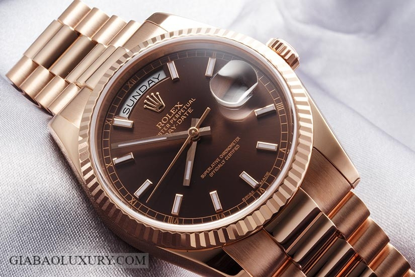 Đồng Hồ Rolex Day-Date 118235 Mặt Số Chocolate